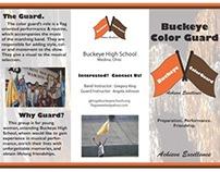 Buckeye Color Guard Brochure (InDesign)