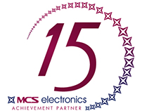 MCS Electronics LLC - 15th Anniversary Logo