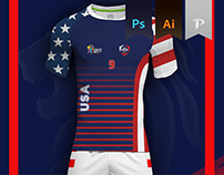 U.S.A. Home kit - Kabbadi World Cup 2016