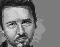 Ed Norton Portrait Study