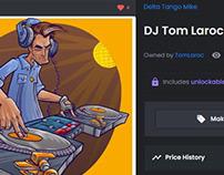 Illustration to NFT - DJ Tom Laroc