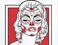 """""""Monroe de Muertos"""" Art Print"""