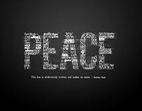 "PEACE ""Typography"""