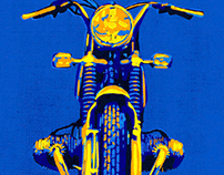 POP ART VINTAGE BMW MOTORCYCLE
