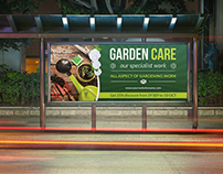 Garden Services Billboard Template