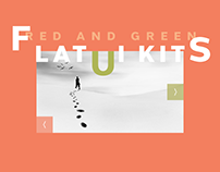 Flat UI Kits Red and Green