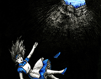 Falling (Alice in Wonderland book cover)