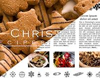 Christmas Recipes&Stuff page layout