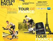 60x80; banner; tela e voucher  do Le Tour de France