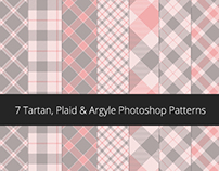 Photoshop Patterns - v2 - Tartan, Argyle & Plaid