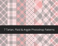 Photoshop Patterns - v2 - Tartan, Argyle & Plaid