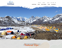 VINTAGE DESIGN WEB TEMPLATE for Climbalaya Expeditions