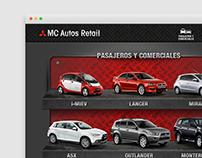 MC Autos Mitsubishi - Web Site