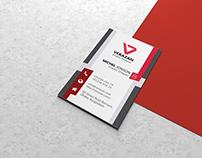 Vertical Business Cards Mock up