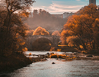 Fall on Fribourg Switzerland
