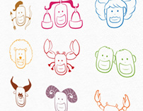 Cartoon Zodiac Signs