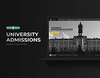 University Admissions in Sweden - Website Redesign