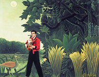 An Elvis in a Rousseau jungle