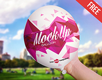 Free Balloon Mock-up in PSD