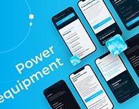 Landing page (desktop, mobile) for power equipment