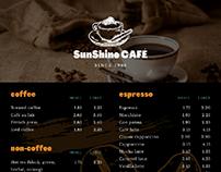 coffe store menu,website and mug mokup