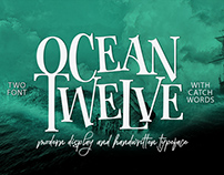 OCEAN TWELVE FONT DUO +Extra Bonus (Ocean Twelve Displa