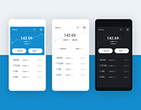 Pillar - cryptocurrency mobile wallet concept