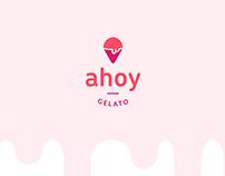 Ahoy Gelato Logo and Brand