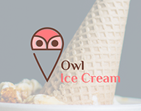 OWL ICE CREAM | Logo