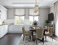 Classical House Design DiningRoom/Hall 3DVisualization