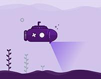 Submarine motion graphic