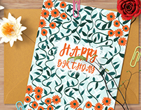 A BDay Card & pattern design
