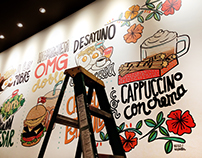De lo bueno, muuucho. Lettering / Illustration Wall