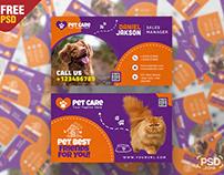 Pet Shop Business Card PSD Template