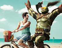 "GameStop - ""Enjoy Summer"" Print"