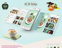 FRAIS Healthy Living App UI/ UX Design
