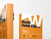 Sochi Hotel City corporate identity and navigation
