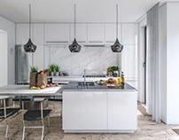 White kitchen by Noreststudio