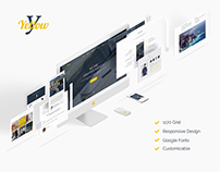 Yellow PSD Template