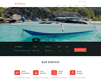 Home Page For A Travel Agency