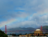 Golden Gate Bridge and the Rainbow