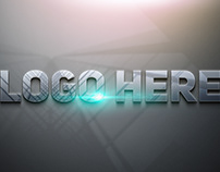 Free Photoshop Glossy 3D Logo Mockup