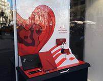 Escaparate de San Valentín para Montblanc -Flagship BCN