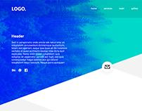 Minimalistic business onepage website