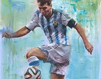 Sports Art  Acrylic Paintings.