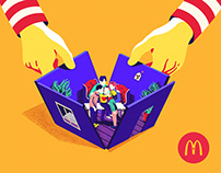 Ronald Mcdonald's Illustrations