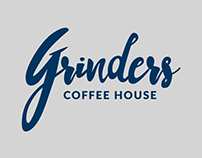 Grinders Coffee House Branding
