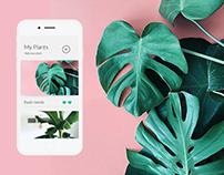 Helplant - botanic app -design