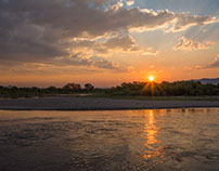 Missouri Headwaters Sunset