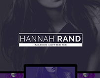 Hannah Rand - Fashion Copywriter